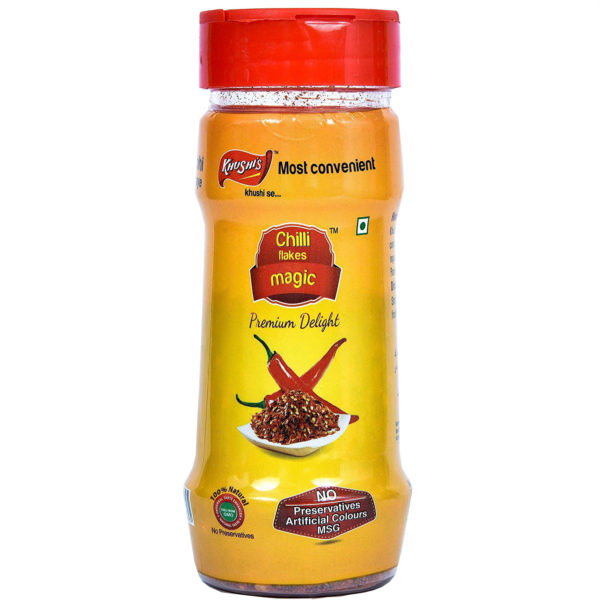 Khushi Foods | Garlic Magic Chilli-600x600 Chilly Flakes Magic Pet Bottle