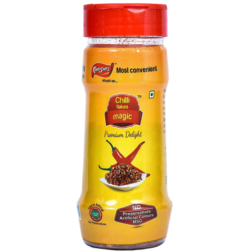 Khushi Foods | Garlic Magic Chilli-800x800 Chilly Flakes Magic Garlic Bread Garlic Magic Khushi Foods Masala Spices  Spices Pizza Mix Magic Pasta Masala Magic Vegi Pasta Masala Garlic Magic Garlic Bread Chilly Flakes Magic
