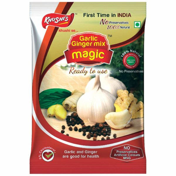 Khushi Foods | Garlic Magic Ginger-Garlic-Mix-Magic-Pouch-600x600 Ginger Garlic Mix Magic (Pouch)