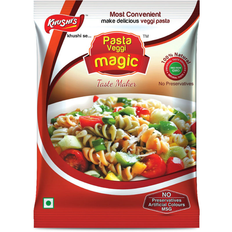 Khushi Foods | Garlic Magic Pasta-800x800 Pasta Masala Magic Vegi Garlic Bread Garlic Magic Khushi Foods Masala Spices  Spices Pizza Mix Magic Pasta Masala Magic Vegi Pasta Masala Garlic Magic Garlic Bread