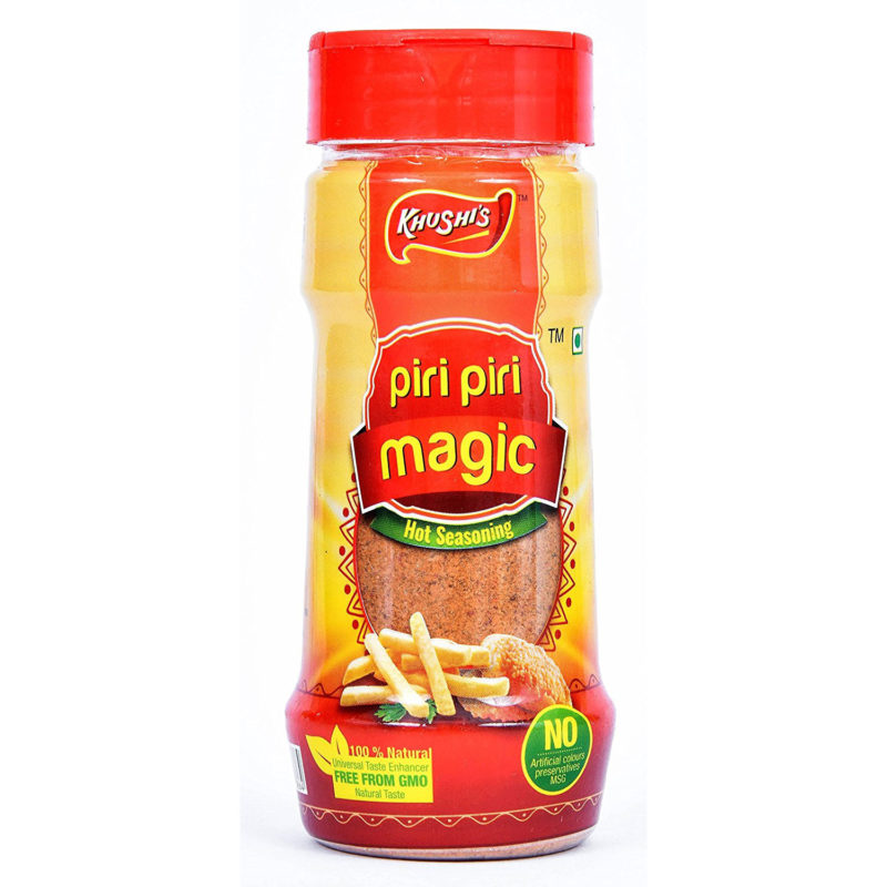 Khushi Foods | Garlic Magic Piri-Piri-800x800 Piri Piri Magic Garlic Bread Garlic Magic Khushi Foods Masala Spices  Spices Pizza Mix Magic Pasta Masala Magic Vegi Pasta Masala Garlic Magic Garlic Bread Chilly Flakes Magic