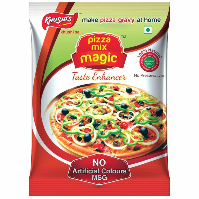 Khushi Foods | Garlic Magic Pizza-Mix-Magic-1-800x800 Pizza Mix Magic Garlic Bread Garlic Magic Khushi Foods Masala Spices  Spices Pizza Mix Magic Garlic Magic Garlic Bread